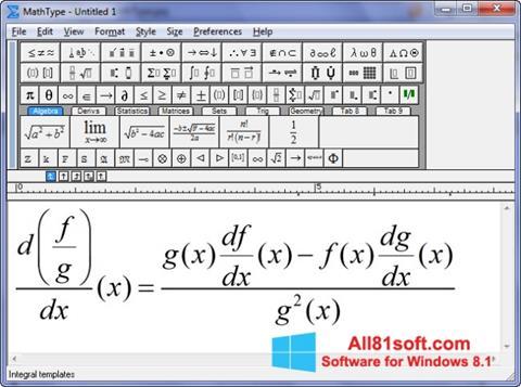 截图 MathType Windows 8.1