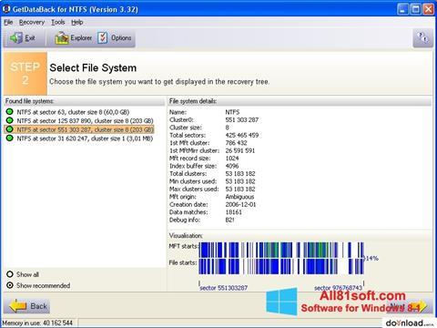 截图 GetDataBack Windows 8.1