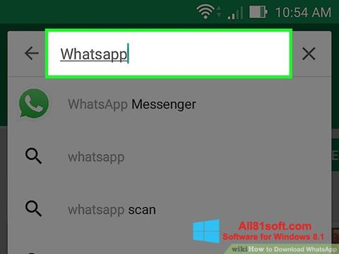 截图 WhatsApp Windows 8.1