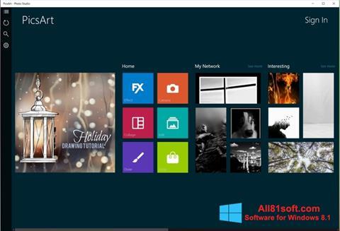 截图 PicsArt Windows 8.1