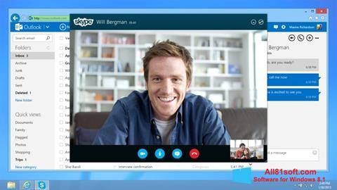 截图 Skype Windows 8.1