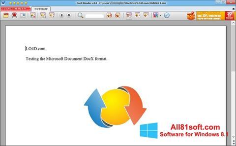 截图 DocX Reader Windows 8.1
